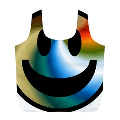 Simple Smiley In Color Full Print Recycle Bags (l)  by Nexatart
