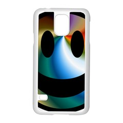 Simple Smiley In Color Samsung Galaxy S5 Case (white) by Nexatart