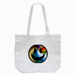 Simple Smiley In Color Tote Bag (white)