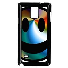 Simple Smiley In Color Samsung Galaxy Note 4 Case (black)