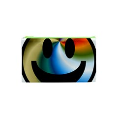 Simple Smiley In Color Cosmetic Bag (xs) by Nexatart