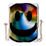 Simple Smiley In Color Drawstring Bag (Large) Front