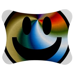 Simple Smiley In Color Jigsaw Puzzle Photo Stand (bow)