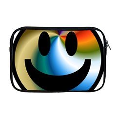 Simple Smiley In Color Apple Macbook Pro 17  Zipper Case