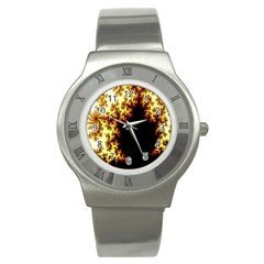 A Fractal Image Stainless Steel Watch by Nexatart