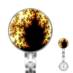 A Fractal Image Stainless Steel Nurses Watch
