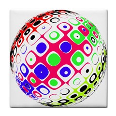 Color Ball Sphere With Color Dots Tile Coasters by Nexatart