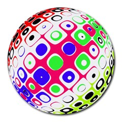 Color Ball Sphere With Color Dots Round Mousepads