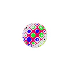 Color Ball Sphere With Color Dots 1  Mini Magnets by Nexatart