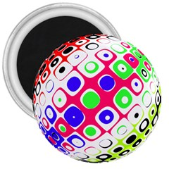 Color Ball Sphere With Color Dots 3  Magnets by Nexatart