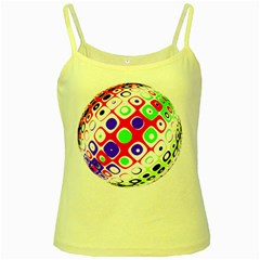 Color Ball Sphere With Color Dots Yellow Spaghetti Tank