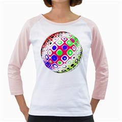 Color Ball Sphere With Color Dots Girly Raglans by Nexatart