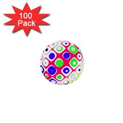 Color Ball Sphere With Color Dots 1  Mini Buttons (100 Pack)