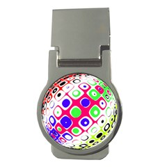 Color Ball Sphere With Color Dots Money Clips (round)
