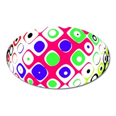 Color Ball Sphere With Color Dots Oval Magnet