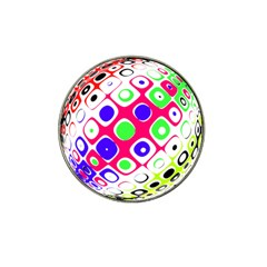 Color Ball Sphere With Color Dots Hat Clip Ball Marker (10 Pack)