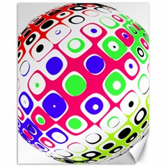 Color Ball Sphere With Color Dots Canvas 16  X 20   by Nexatart