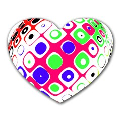 Color Ball Sphere With Color Dots Heart Mousepads by Nexatart
