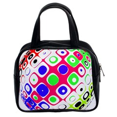 Color Ball Sphere With Color Dots Classic Handbags (2 Sides) by Nexatart