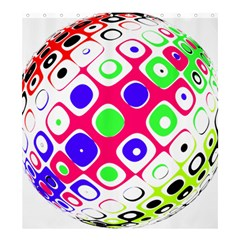 Color Ball Sphere With Color Dots Shower Curtain 66  X 72  (large)  by Nexatart