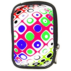 Color Ball Sphere With Color Dots Compact Camera Cases