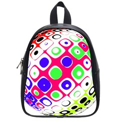 Color Ball Sphere With Color Dots School Bags (small)  by Nexatart