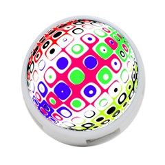 Color Ball Sphere With Color Dots 4 Port Usb Hub (two Sides)  by Nexatart