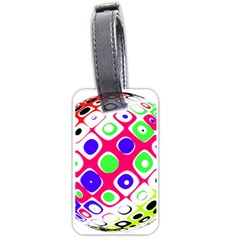 Color Ball Sphere With Color Dots Luggage Tags (one Side)  by Nexatart
