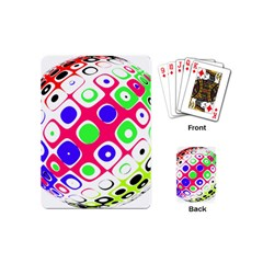 Color Ball Sphere With Color Dots Playing Cards (mini)  by Nexatart