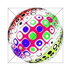 Color Ball Sphere With Color Dots Acrylic Tangram Puzzle (6  X 6 )