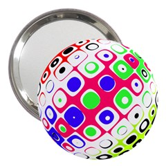 Color Ball Sphere With Color Dots 3  Handbag Mirrors by Nexatart