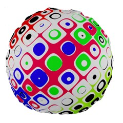 Color Ball Sphere With Color Dots Large 18  Premium Round Cushions by Nexatart