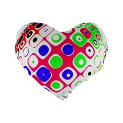 Color Ball Sphere With Color Dots Standard 16  Premium Heart Shape Cushions by Nexatart