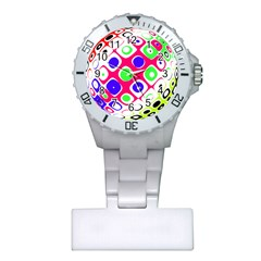 Color Ball Sphere With Color Dots Plastic Nurses Watch by Nexatart