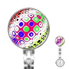 Color Ball Sphere With Color Dots Stainless Steel Nurses Watch by Nexatart