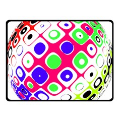 Color Ball Sphere With Color Dots Double Sided Fleece Blanket (Small)  by Nexatart