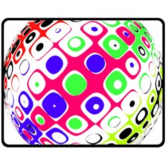 Color Ball Sphere With Color Dots Double Sided Fleece Blanket (medium)  by Nexatart
