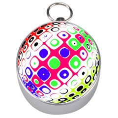Color Ball Sphere With Color Dots Silver Compasses by Nexatart