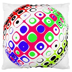 Color Ball Sphere With Color Dots Standard Flano Cushion Case (one Side) by Nexatart
