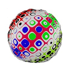 Color Ball Sphere With Color Dots Standard 15  Premium Flano Round Cushions by Nexatart