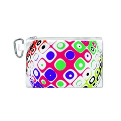 Color Ball Sphere With Color Dots Canvas Cosmetic Bag (s) by Nexatart
