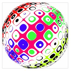 Color Ball Sphere With Color Dots Large Satin Scarf (square) by Nexatart