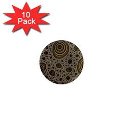 White Vintage Frame With Sepia Targets 1  Mini Magnet (10 Pack)