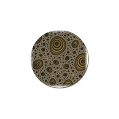 White Vintage Frame With Sepia Targets Golf Ball Marker (10 Pack) by Nexatart