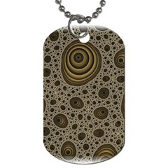 White Vintage Frame With Sepia Targets Dog Tag (two Sides)