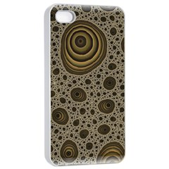White Vintage Frame With Sepia Targets Apple Iphone 4/4s Seamless Case (white)