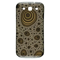 White Vintage Frame With Sepia Targets Samsung Galaxy S3 S Iii Classic Hardshell Back Case