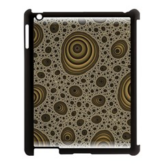 White Vintage Frame With Sepia Targets Apple Ipad 3/4 Case (black)