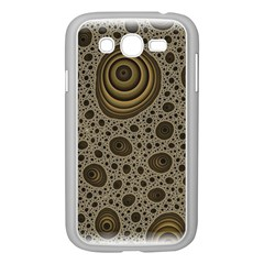 White Vintage Frame With Sepia Targets Samsung Galaxy Grand Duos I9082 Case (white)