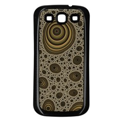 White Vintage Frame With Sepia Targets Samsung Galaxy S3 Back Case (black)